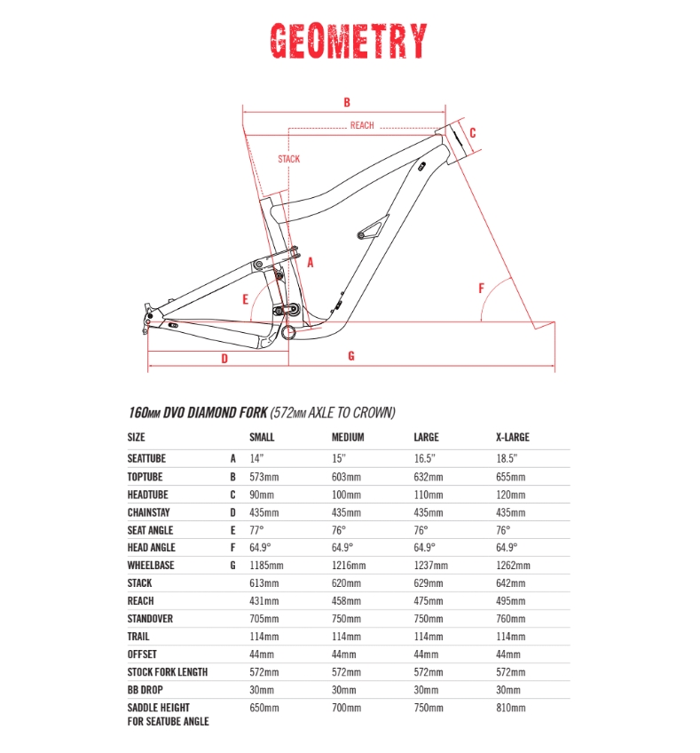 le geometrie della IBIS Ripmo AF